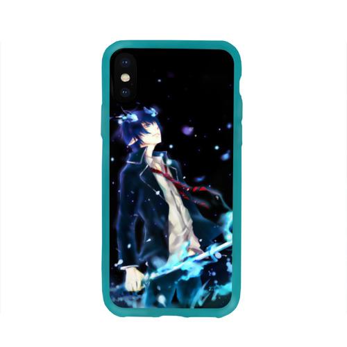 Чехол для Apple iPhone X силиконовый глянцевый Blue Exorcist Фото 01