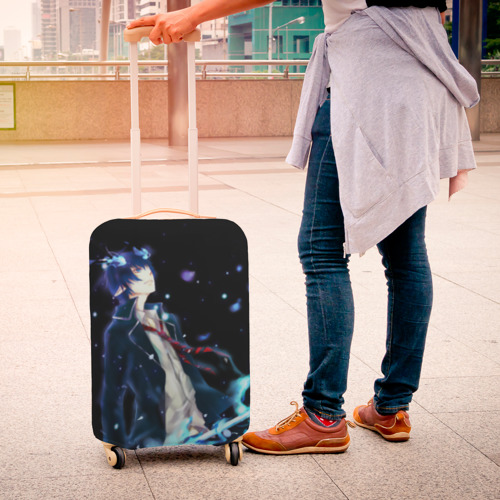 Чехол для чемодана 3D Blue Exorcist Фото 01