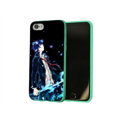 Чехол для Apple iPhone 8 силиконовый глянцевый Blue Exorcist Фото 01