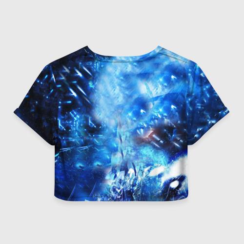 Женская футболка 3D укороченная  Фото 02, Blue Exorcist