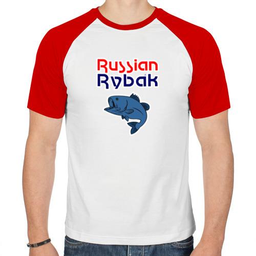 Мужская футболка реглан  Фото 01, Русский рыбак