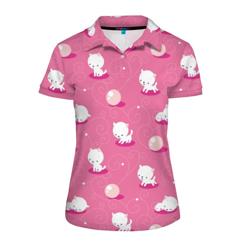 Женская рубашка поло 3D Котики