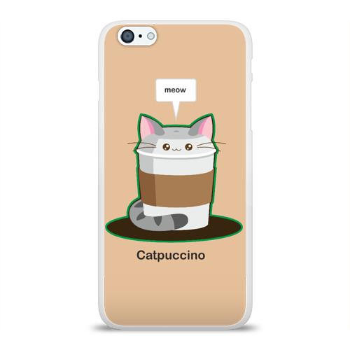 Чехол для Apple iPhone 6Plus/6SPlus силиконовый глянцевый  Фото 01, Catpuccino