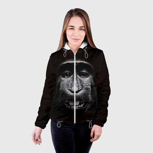 Женская куртка 3D  Фото 03, обезьяна