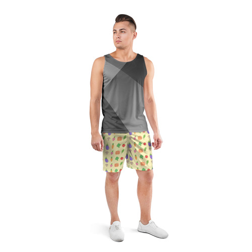 Мужские шорты 3D спортивные  Фото 04, Рай вегетарианца