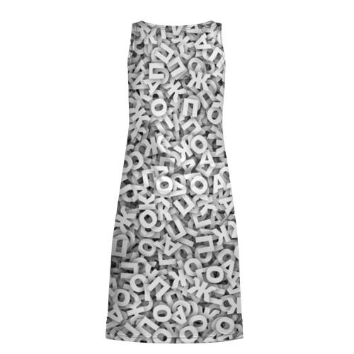 Платье-майка 3D  Фото 02, Буквы