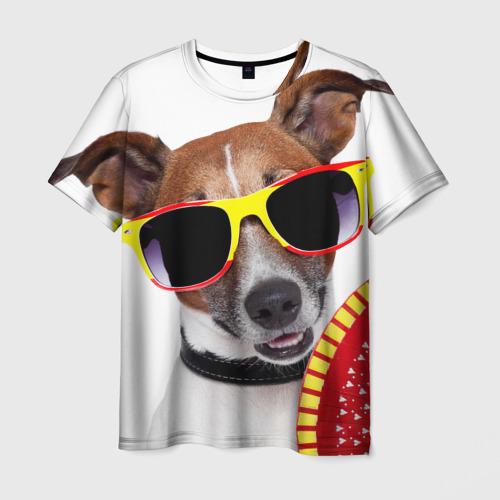 Мужская футболка 3D  Фото 01, Джек Рассел с веером