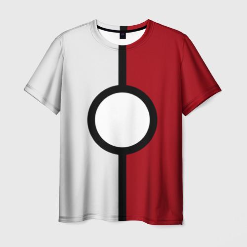 Мужская футболка 3D  Фото 01, Pokeball