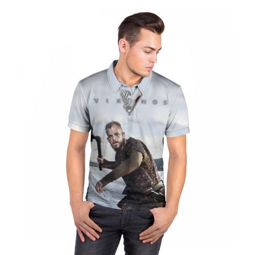 Мужская рубашка поло 3D  Фото 05, Викинги