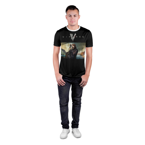 Мужская футболка 3D спортивная  Фото 04, Викинги