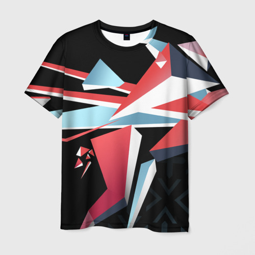 Мужская футболка 3D  Фото 01, cs:go - Point Disarray style 2 (Буйство красок)