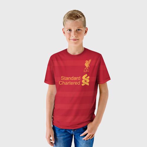 Детская футболка 3D Ливерпуль (форма)