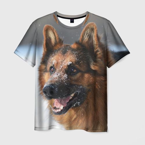 Мужская футболка 3D  Фото 01, Длинношерстная овчарка