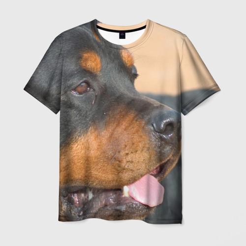 Мужская футболка 3D  Фото 01, Ротвейлер