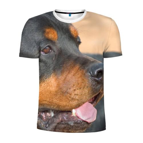 Мужская футболка 3D спортивная  Фото 01, Ротвейлер