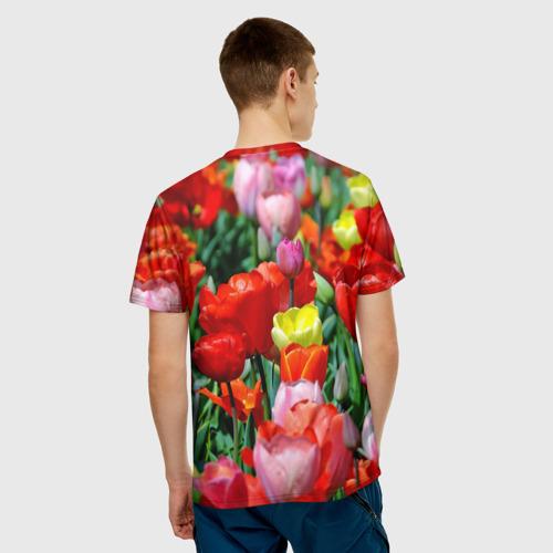 Мужская футболка 3D  Фото 02, Тюльпановый рай