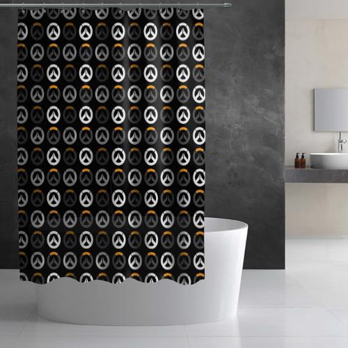 Штора 3D для ванной Overwatch Multi Logo (2) Фото 01