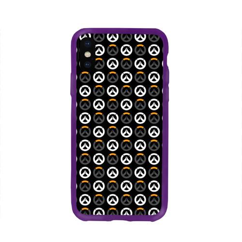 Чехол для Apple iPhone X силиконовый глянцевый Overwatch Multi Logo (2) Фото 01