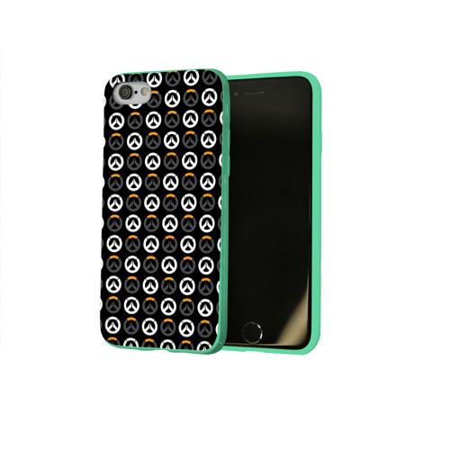 Чехол для Apple iPhone 8 силиконовый глянцевый Overwatch Multi Logo (2) Фото 01