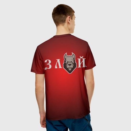 Мужская футболка 3D  Фото 02, Злой пёс