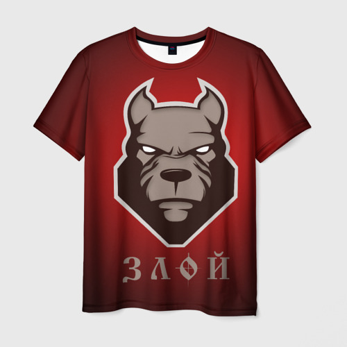 Мужская футболка 3D  Фото 01, Злой пёс