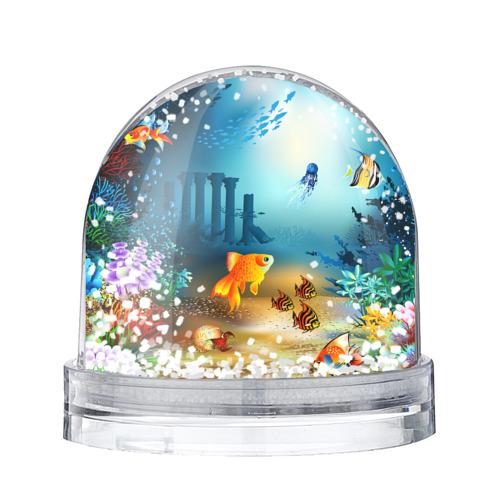 Водяной шар со снегом Золотая рыбка