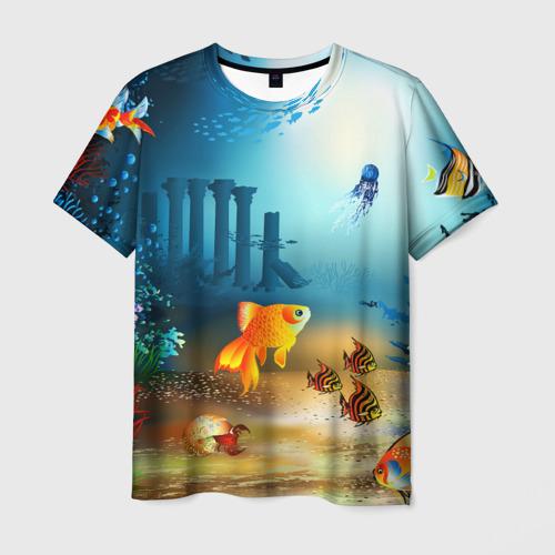 Мужская футболка 3D  Фото 01, Золотая рыбка