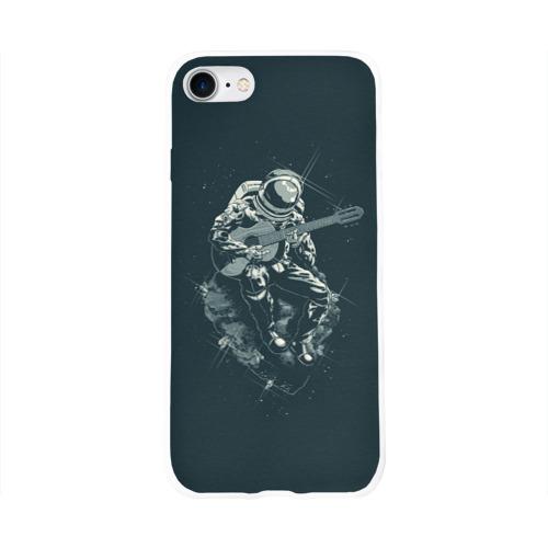 Чехол для Apple iPhone 8 силиконовый глянцевый  Фото 01, Астронавт