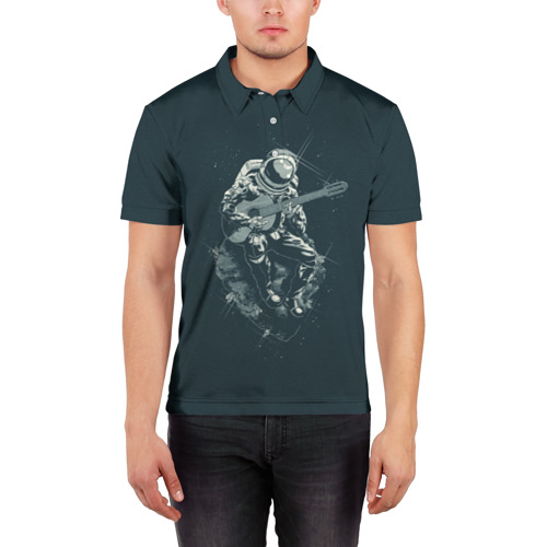 Мужская рубашка поло 3D  Фото 03, Астронавт