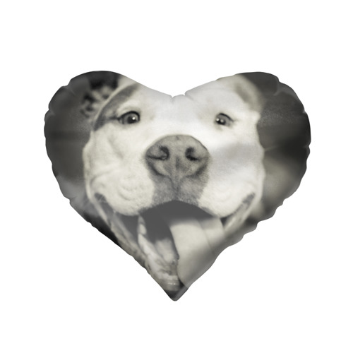 Подушка 3D сердце  Фото 02, Пит-буль