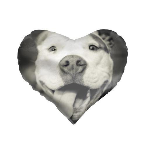Подушка 3D сердце  Фото 01, Пит-буль