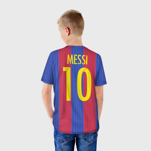 Детская футболка 3D 'Месси (форма)'