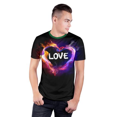 Мужская футболка 3D спортивная  Фото 03, LOVE