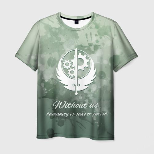 Мужская футболка 3D Сила Братства Стали