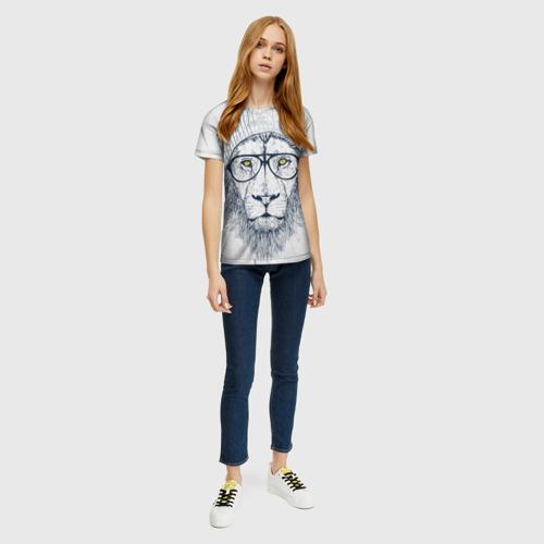 Женская футболка 3D Cool Lion Фото 01