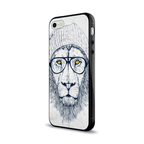 Чехол для iPhone 5/5S глянцевый Cool Lion Фото 01