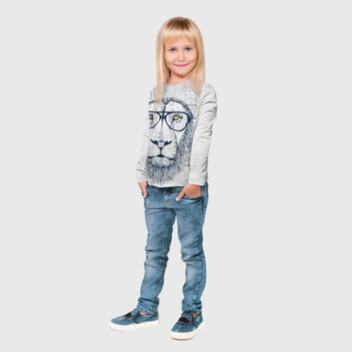 Детский лонгслив 3D Cool Lion Фото 01