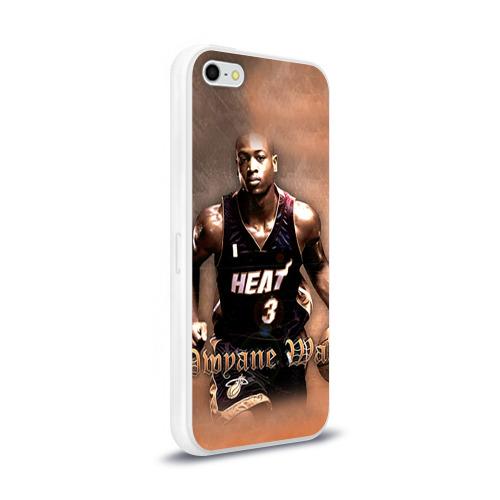 Чехол для Apple iPhone 5/5S силиконовый глянцевый  Фото 02, Баскетболист Dwyane Wade