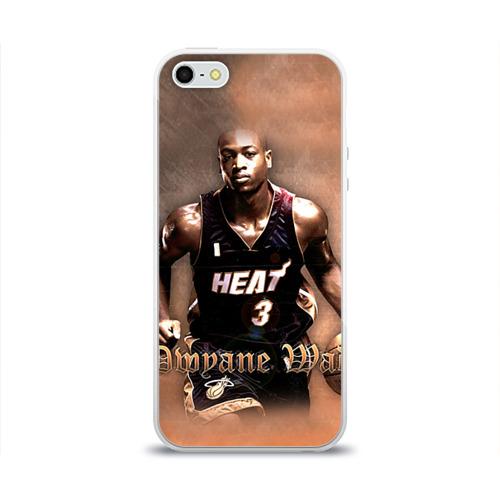 Чехол для Apple iPhone 5/5S силиконовый глянцевый  Фото 01, Баскетболист Dwyane Wade