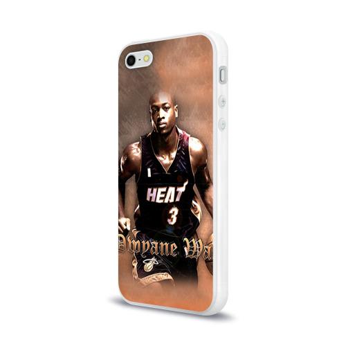 Чехол для Apple iPhone 5/5S силиконовый глянцевый  Фото 03, Баскетболист Dwyane Wade