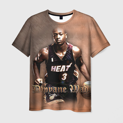 Мужская футболка 3D Баскетболист Dwyane Wade