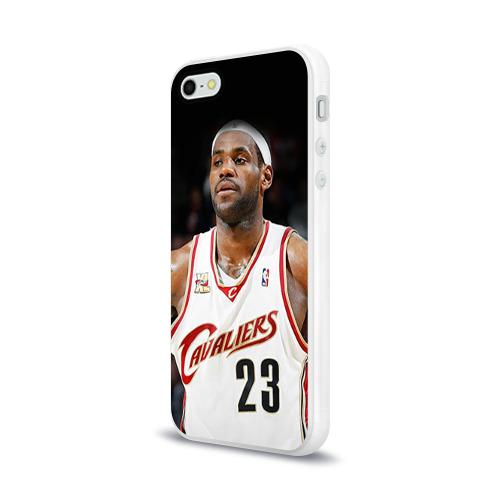 Чехол для Apple iPhone 5/5S силиконовый глянцевый  Фото 03, LeBron James