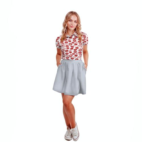 Женская рубашка поло 3D  Фото 04, KISS