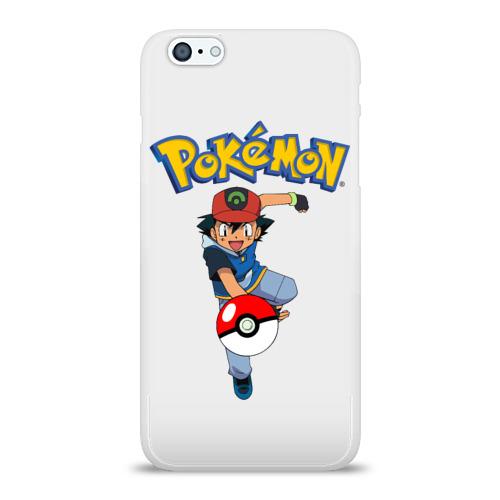 Чехол для Apple iPhone 6Plus/6SPlus силиконовый глянцевый  Фото 01, Pokemon / Ash Ketchum