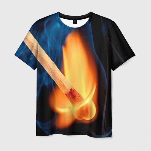 Мужская футболка 3D  Фото 01, Пламя