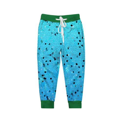 Детские брюки 3D Синий узор