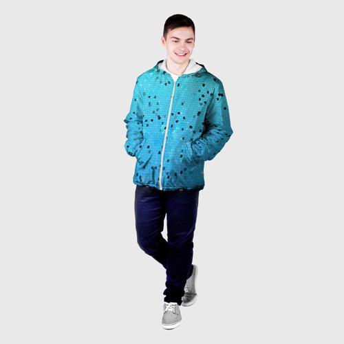 Мужская куртка 3D  Фото 03, Синий узор