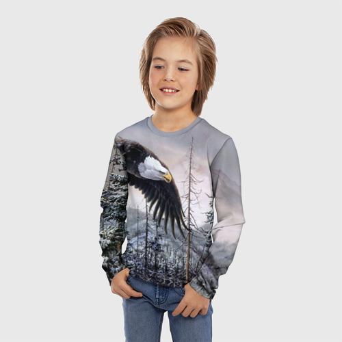 Детский лонгслив 3D Орел Фото 01