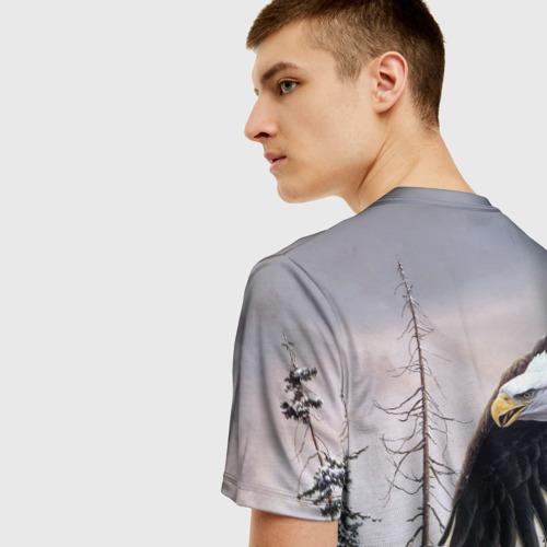 Мужская футболка 3D Орел Фото 01