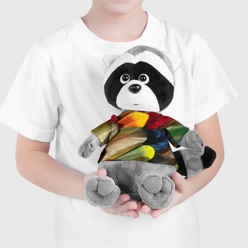 Енотик в футболке 3D  Фото 04, Перья